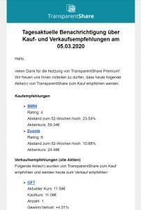 TransparentShare - E-Mail notification Levermann strategy