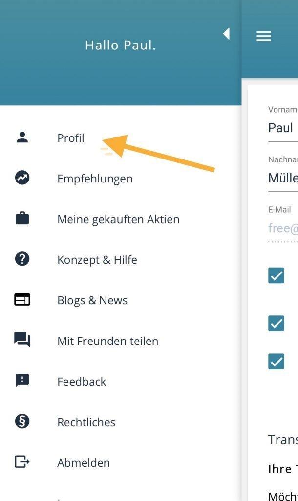 Transparentshare - Wie kann ich in der Appe app Premium kaufen?