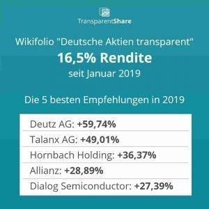 TransparentShare - yield 2019